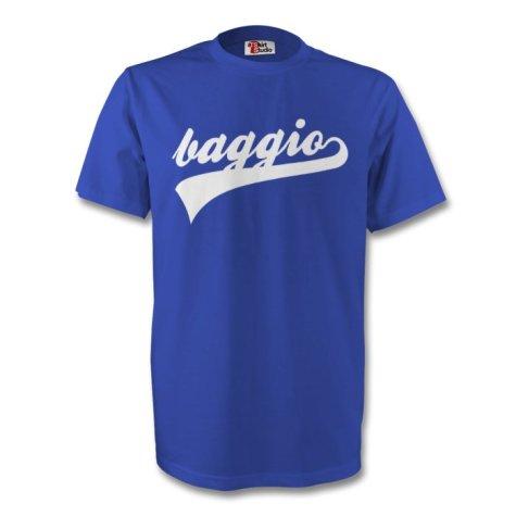 Roberto Baggio Italy Signature Tee (blue)