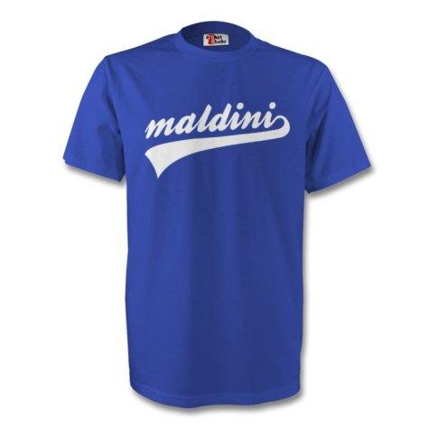 Paolo Maldini Italy Signature Tee (blue) - Kids