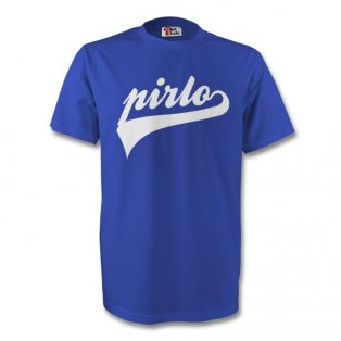 Andrea Pirlo Italy Signature Tee (blue) - Kids