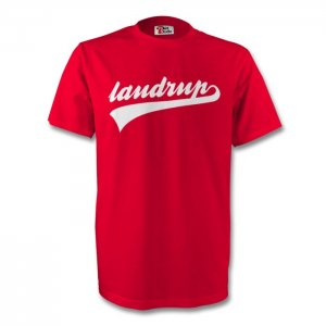 Michael Laudrup Denmark Signature Tee (red) - Kids