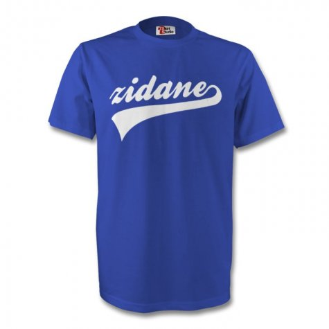 Zinedine Zidane France Signature Tee (blue)