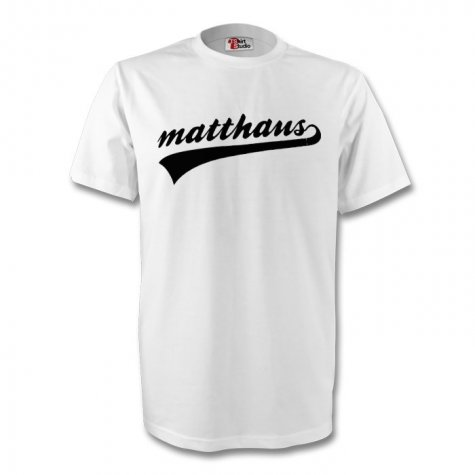 Lothar Matthaus Germany Signature Tee (white) - Kids