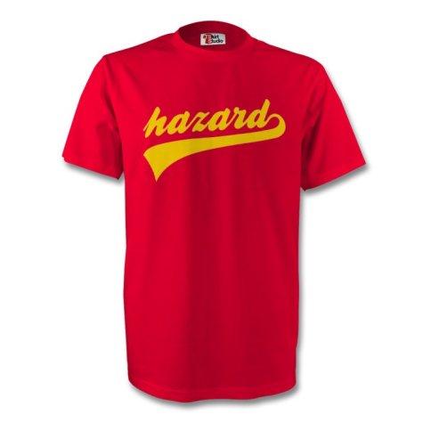Eden Hazard Belgium Signature Tee (red) - Kids