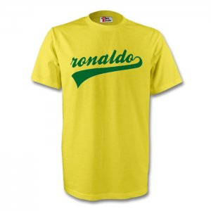 Ronaldo Brazil Signature Tee (yellow) - Kids