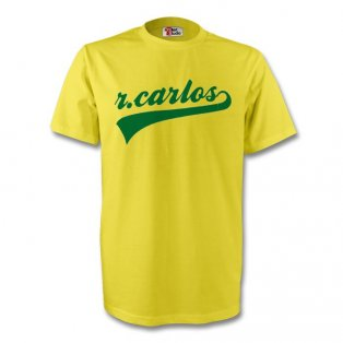 Roberto Carlos Brazil Signature Tee (yellow) - Kids