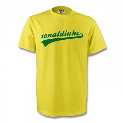 Ronaldinho Brazil Signature Tee (yellow) - Kids