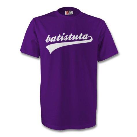 Gabriel Batistuta Fiorentina Signature Tee (purple) - Kids