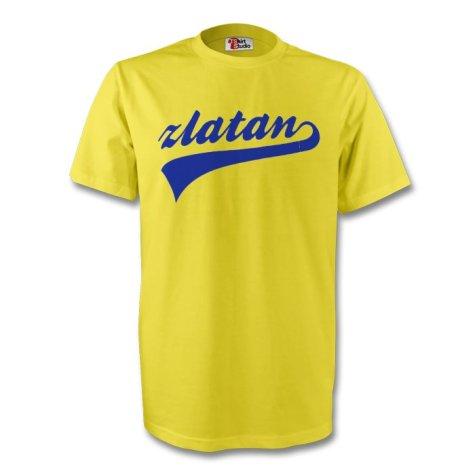 Zlatan Ibrahimovic Sweden Signature Tee (yellow) - Kids