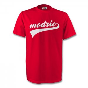 Luka Modric Croatia Signature Tee (red) - Kids