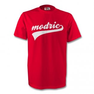 Luka Modric Croatia Signature Tee (red) - Kids