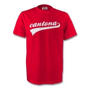 Eric Cantona Man Utd Signature Tee (red) - Kids