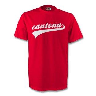 Eric Cantona Man Utd Signature Tee (red)