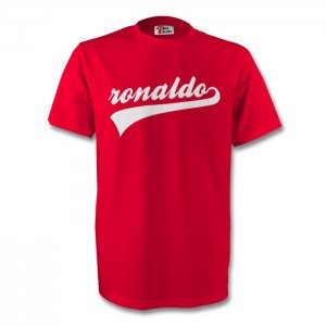 Cristiano Ronaldo Man Utd Signature Tee (red) - Kids