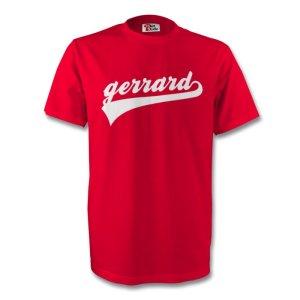 Steven Gerrard Liverpool Signature Tee (red)