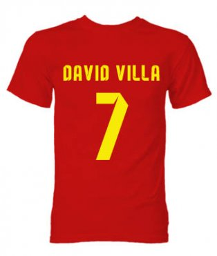 Barcelona David Villa Hero T-Shirt (Red)