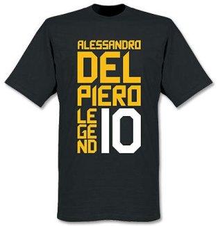 Alessandro Del Piero Juventus Legends Tee (Black)