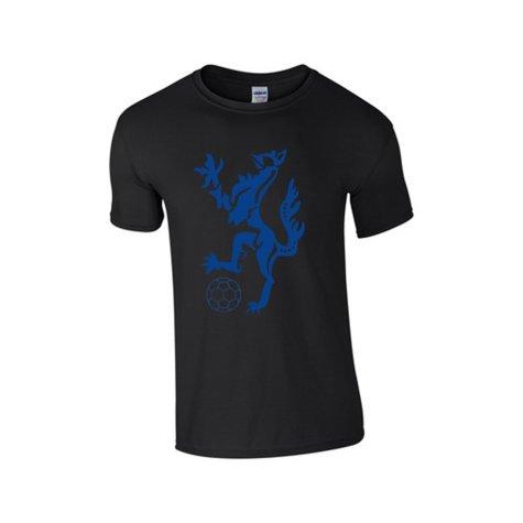 Enfield Town Core Logo T-Shirt (Black-Blue)