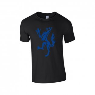 Enfield Town Core Logo T-Shirt (Black-Blue) - Kids