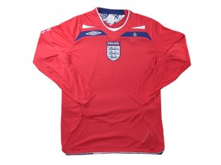 2008-2009 England Euro L/S Away Shirt (Kids)