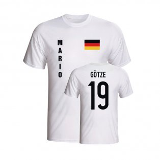 Mario Gotze Germany Flag T-shirt (white) - Kids