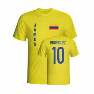 James Rodriguez Colombia Flag T-shirt (yellow) - Kids