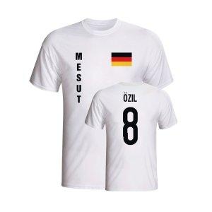 Mesut Ozil Germany Flag T-shirt (white) - Kids