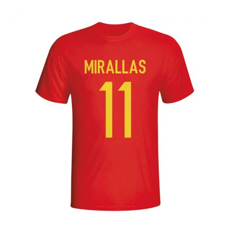 Kevin Mirallas Belgium Hero T-shirt (red)