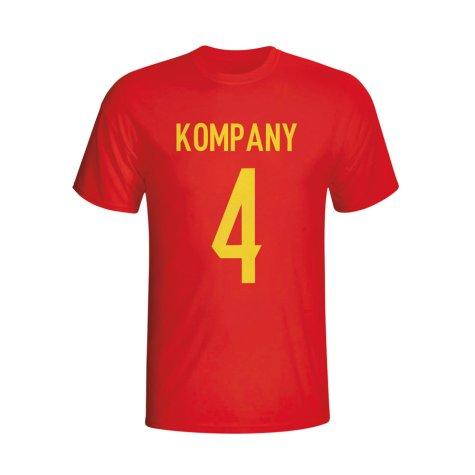 Vincent Kompany Belgium Hero T-shirt (red)