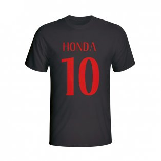 Keisuke Honda Ac Milan Hero T-shirt (black) - Kids