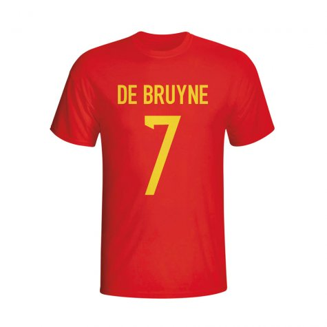 Kevin De Bruyne Belgium Hero T-shirt (red) - Kids