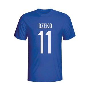 Edin Dzeko Bosnia Hero T-shirt (blue) - Kids