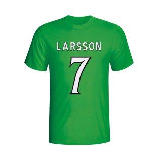 Henrik Larsson Celtic Hero T-shirt (green) - Kids