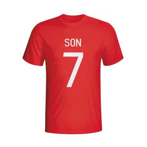 Son Heung-min South Korea Hero T-shirt (red)
