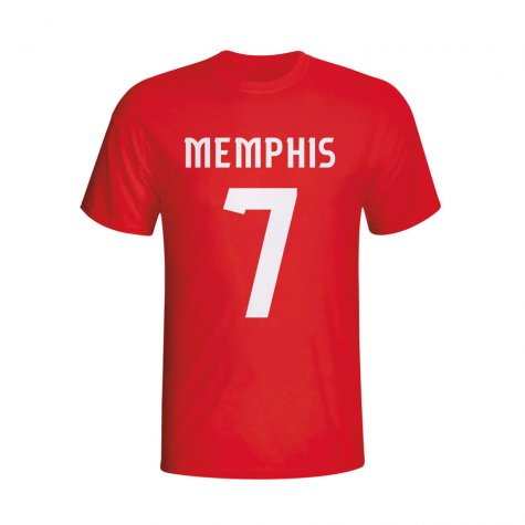 Memphis Depay Psv Hero T-shirt (red)