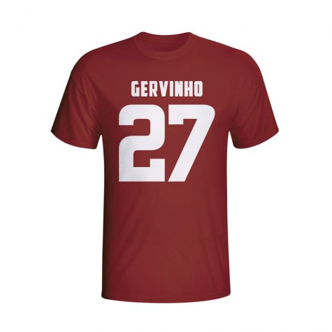 Gervinho Roma Hero T-shirt (maroon)
