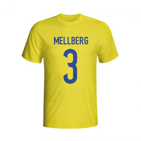Olof Mellberg Sweden Hero T-shirt (yellow) - Kids