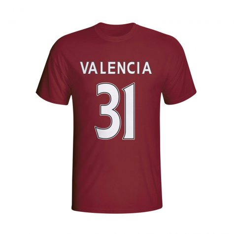 Enner Valencia West Ham Hero T-shirt (maroon)