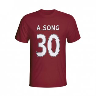 Alex Song West Ham Hero T-shirt (maroon) - Kids