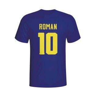 Juan Roman Riquelme Boca Juniors Hero T-shirt (navy) - Kids