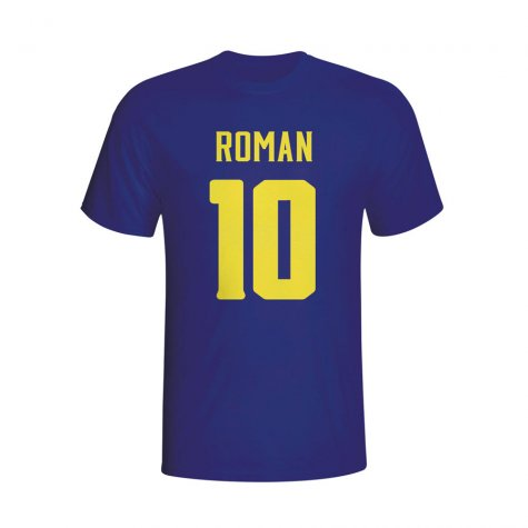 Juan Roman Riquelme Boca Juniors Hero T-shirt (navy) - Kids