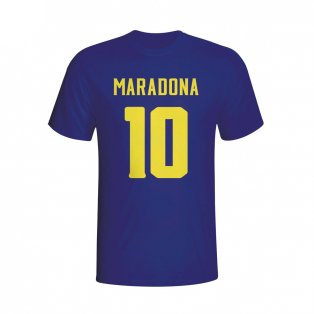 Diego Maradona Boca Juniors Hero T-shirt (navy) - Kids