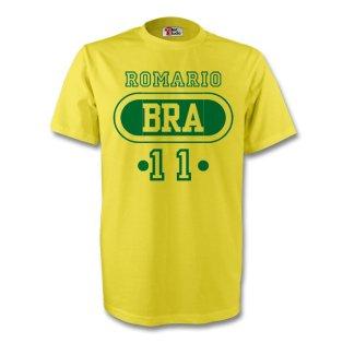Romario Brazil Bra T-shirt (yellow)