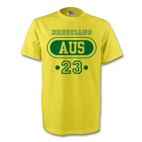 Harry Kewell Australia Aus T-shirt (yellow) - Kids