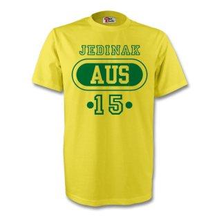 Mark Bresciano Australia Aus T-shirt (yellow)