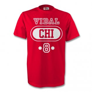 Arturo Vidal Chile Chi T-shirt (red)