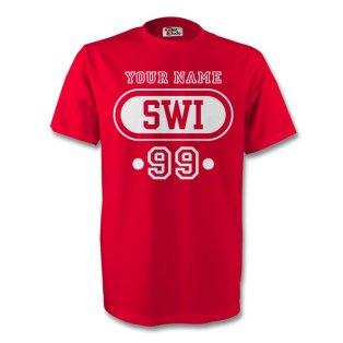 Switzerland Swi T-shirt (red) + Your Name