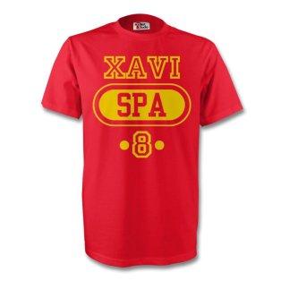 Xavi Spain Spa T-shirt (red)