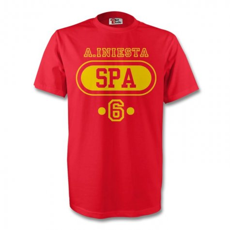 Andres Iniesta Spain Spa T-shirt (red) - Kids