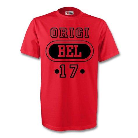 Divock Origi Belgium Bel T-shirt (red) - Kids