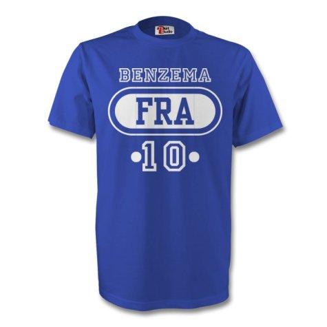 Karim Benzema France Fra T-shirt (blue) - Kids